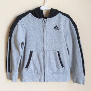 3 for $15  Adidas Full-Zip Hooded Sweater 4T
